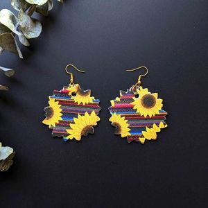 Sunflower Sarape Earrings